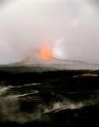 Puu O'o Vent, Kilauea Volcano, HVNP, Island of Hawaii