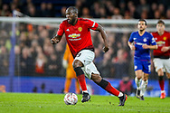 Manchester United Forward Romelu Lukaku (9) on the ball during the The FA Cup match between Chelsea and Manchester United at Stamford Bridge, London, England on 18 February 2019.