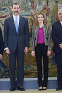 010915 Spanish Royals attend several audiences at Palacio de la Zarzuela