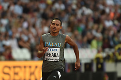 August 4, 2017 - London, United Kingdom - Uehara during 100 meter preliminary round  at London Stadium in London on August 4, 2017 at the 2017 IAAF World Championships athletics. (Credit Image: © Ulrik Pedersen/NurPhoto via ZUMA Press)