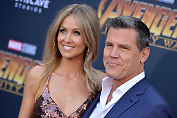Josh Brolin and Kathryn Boyd attend the World Premiere of Avengers: Infinity War on April 23, 2018 in Los Angeles, Ca, USA. Photo by Lionel Hahn/ABACAPRESS.COM