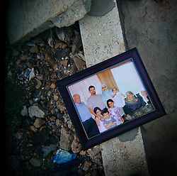 A photo of the deceased members of the Al-Akhrass family, killed during heavy fighting between Hezbollah and Israeli forces, Aytaroun, Southern Lebanon, Oct. 23, 2006.