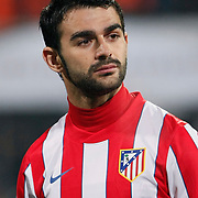 Atletico Madrid's Adrian Lopez during their UEFA Europa League Round of 16, Second leg soccer match Besiktas between Atletico Madrid at Inonu stadium in Istanbul Turkey on Thursday March 15, 2012. Photo by TURKPIX