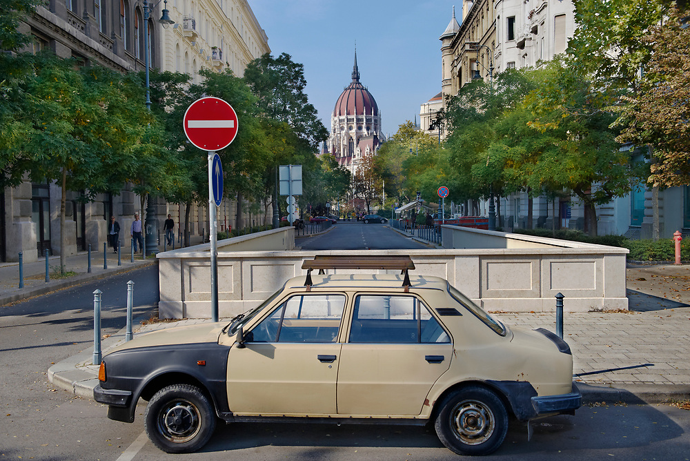 SERIES - UNRLIABLE-SIGHTINGS by PAUL WILLIAMS-Car and Parliament Budapest