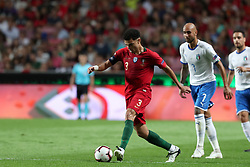 September 10, 2018 - Lisbon, Portugal - Portugal's defender Pepe (L) vies with Italy's forward Simone Zaza during the UEFA Nations League A group 3 football match Portugal vs Italy at the Luz stadium in Lisbon, Portugal on September 10, 2018. (Credit Image: © Pedro Fiuza/ZUMA Wire)