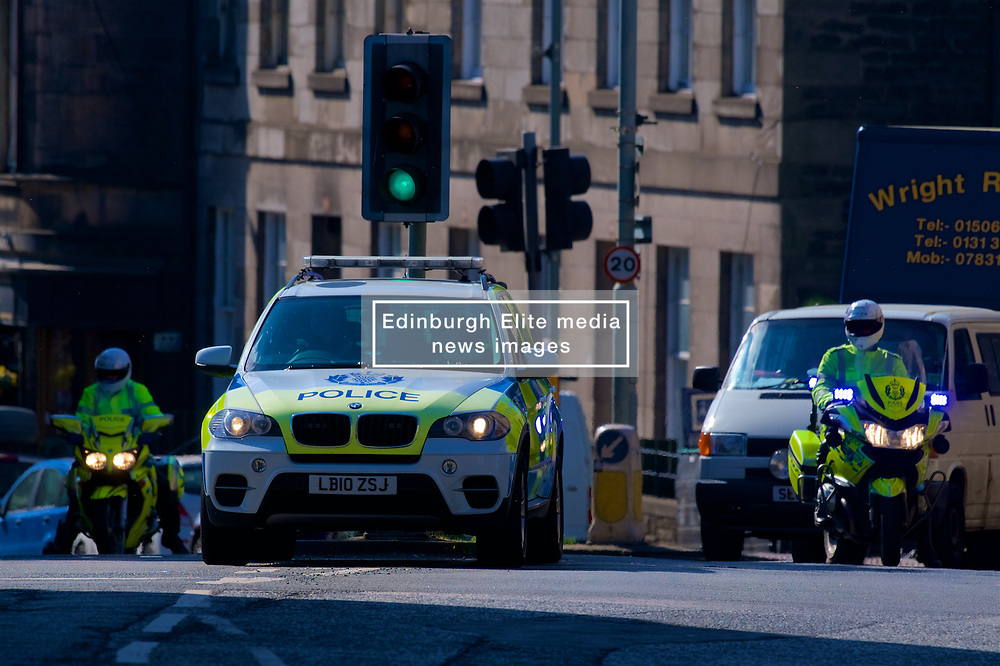 High security in Edinburgh during a visit by former US president Barack Obama Organised by The Hunter Foundation. Mr Obama will address business leaders and take part in a Q&A at the Edinburgh International Conference Centre. 26th May 2017, (c) Brian Anderson | Edinburgh Elite media