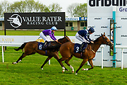 Shining ridden by Tom Marquand and trained by Jim Boyle, Major Blue ridden by Ryan Tate and trained by James Eustace - Ryan Hiscott/JMP - 15/05/2019 - PR - Bath Racecourse - Bath, England - Bath Racecourse Wednesday 15th May 2019