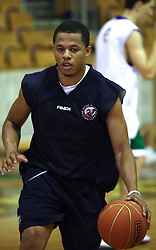 Jonathan Wallace of USA at first open practice of KK Union Olimpija in the new season 2008/2009, on August 21, 2008 in Hala Tivoli, Ljubljana, Slovenia. (Photo by Vid Ponikvar / Sportal Images)