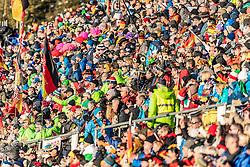 24.01.2019, Suedtirol Arena, Antholz, ITA, IBU Weltcup Biathlon, Sprint, Damen, im Bild die Fans im Stadion // the fans at the statdium during women' s Sprint of BMW IBU Biathlon World Cup at the Suedtirol Arena in Antholz, Italy on 2019/01/24. EXPA Pictures © 2019, PhotoCredit: EXPA/ Stefan Adelsberger