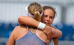 May 6, 2019 - Madrid, MADRID, SPAIN - Daria Kasatkina of Russia & Anett Kontaveit of Estonia play doubles at the 2019 Mutua Madrid Open WTA Premier Mandatory tennis tournament (Credit Image: © AFP7 via ZUMA Wire)