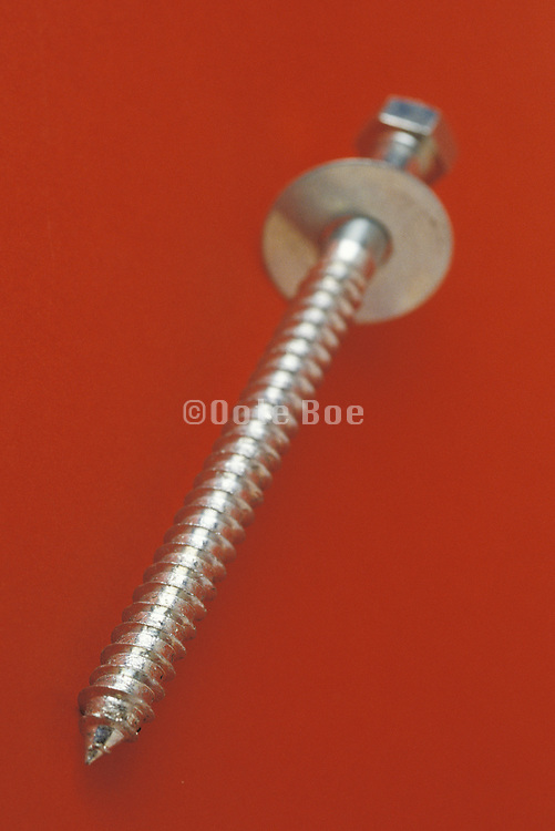 a single long screw with a washer attached