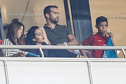 October 10, 2017 - Na - Lisbon, 10/10/2017 - The Portuguese football team received their Swiss counterpart tonight in the last game of the group stage to qualify for the 2018 FIFA World Cup in Russia , next June. Georgina Rodriguez; Cristiano Jr  (Credit Image: © Atlantico Press via ZUMA Wire)