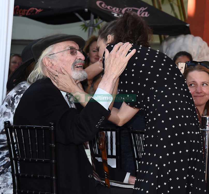 FILES: Martin Landau 1928 - 2017 September 8, 2016 Hollywood, CA Martin Landau, Susan Landau Finch and Aria Finch attend Tim Burton's Hand and Footprint Ceremony held the TCL Chinese Theatre IMAX. 16 Jul 2017 Pictured: Martin Landau and Winona Ryder. Photo credit: Tammie Arroyo/AFF-USA.com / MEGA TheMegaAgency.com +1 888 505 6342