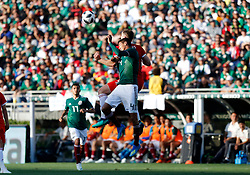May 28, 2018 - Pasadena, CA, U.S. - PASADENA, CA - MAY 28: Sam Vokes of Wales fights Hugo Ayala of Mexico for the ball during the game on May 28, 2018, at the Rose Bowl in Pasadena, CA.  (Photo by Adam  Davis/Icon Sportswire) (Credit Image: © Adam Davis/Icon SMI via ZUMA Press)