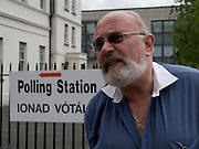 "Editorial Use Only: Irish Senator and human rights activist David Norris explains to Dutch TV Nederland 1 why he voted ""no"" to the Lisbon Treaty, outside the Polling Station on Marlborough Street, Dublin 1. He cited possible European military expansion following a ""yes"" vote as a key issue in his choice in voting ""no"".....David Norris was the first openly gay person to be elected to public office in Ireland. Senator Norris is also a prominent Joycean scholar, is the a big player in  Dublin's annual Bloomsday celebrations. Senator Norris's razor-sharp wit and debating skills have made him a popular figure in Ireland.....More here:..http://www.senatordavidnorris.ie/....Source:..http://www.davewalshphoto.com"