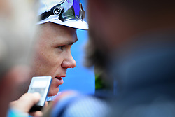 July 16, 2018 - Annecy, FRANCE - British Chris Froome of Team Sky talks to the press during the first rest day in the 105th edition of the Tour de France cycling race, in Annecy, France, Monday 16 July 2018. This year's Tour de France takes place from July 7th to July 29th. BELGA PHOTO DAVID STOCKMAN (Credit Image: © David Stockman/Belga via ZUMA Press)