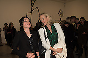 SUE WEBSTER; ELISABETH MURDOCH, STICKS WITH DICKS AND SLITS, Tim Noble and Sue Webster. Blain Southern. hanover Sq. london. 2 February 2017