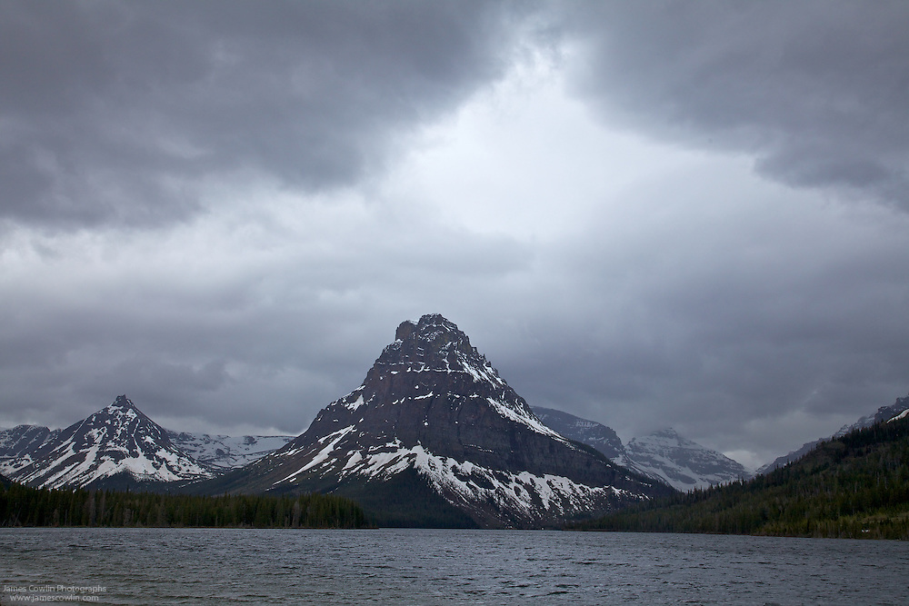 Stormy afternoon at Two Medicine Lake in Glacier National Park