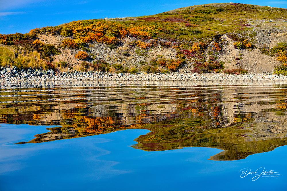 Reflections in Ennadai Lake, Arctic Haven Lodge, Nunavut, Canada
