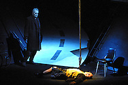 Scottish Opera's production of Richard Wagner's 'Siegfried', the third part of the 'Ring Cycle' which is being staged in successive years on the Edinburgh International Festival. Picture shows The Wanderer, Wotan, (Matthew Best, left) interrogating the unfortunate Nibelung Mime (Alasdair Elliot) in Act I.........