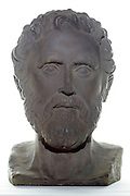 ornamental bust of Aristotle (384 B.C. -322 B.C.) Greek philosopher