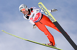 David Zauner of Austria competes during Flying Hill Individual Qualifications at 1st day of FIS Ski Flying World Championships Planica 2010, on March 18, 2010, Planica, Slovenia.  (Photo by Vid Ponikvar / Sportida)