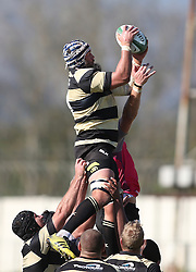 Hanno Kitshoff of Boland wins the line out ball during the Currie Cup premier division match between the Boland Cavaliers and The Pumas held at Boland Stadium, Wellington, South Africa on the 2nd September 2016<br /> <br /> Photo by:   Shaun Roy/ Real Time Images