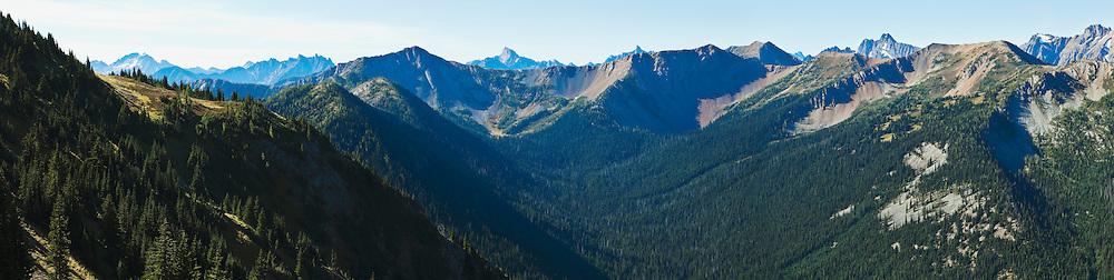 Mountains in the North Cascades, Washington, USA.