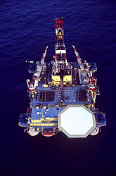 Stock photo of a semi-submersible rig