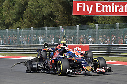 August 28, 2016 - Spa Francorchamps, Belgium - Motorsports: FIA Formula One World Championship 2016, Grand Prix of Belgium, .#55 Carlos Sainz Junior (ESP, Scuderia Toro Rosso), #31 Esteban Ocon (FRA, Manor Racing F1 Team) (Credit Image: © Hoch Zwei via ZUMA Wire)