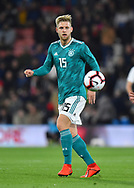 Arne Maier of Germany U21's during the U21 International match between England and Germany at the Vitality Stadium, Bournemouth, England on 26 March 2019.