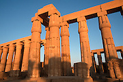 EGYPT, ANCIENT MONUMENTS Temple of Luxor; the Great Colonnade built by Amenophis III (Amenhotep III) in the 13th Century BC
