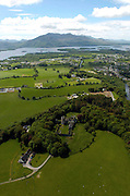An aerial photo of Killarney town showing Flesk Castle..Picture by Don MacMonagle
