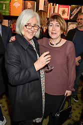 Left to right, MAGGIE KOUMI and RONNIE WHELAN at a party to celebrate the publication of How I Met My Son by Ros Powell held at Hatchards, 187 Piccadilly, London on 11th February 2016.