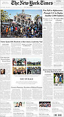 August 15, 2021 - USA: Front-page: Today's Newspapers In United States