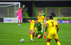 Liam Kitching of Forest Green Rovers is fouled by Josh Gordon of Walsall - Mandatory by-line: Nizaam Jones/JMP - 03/10/2020 - FOOTBALL - the innocent [insert name here] stadium - Nailsworth, England - Forest Green Rovers v Walsall - Sky Bet League Two
