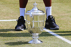 Dustin Brown of Germany stands behind the AEGON Manchester Trophy - Mandatory by-line: Matt McNulty/JMP - 05/06/2016 - TENNIS - Northern Tennis Club - Manchester, United Kingdom - AEGON Manchester Trophy