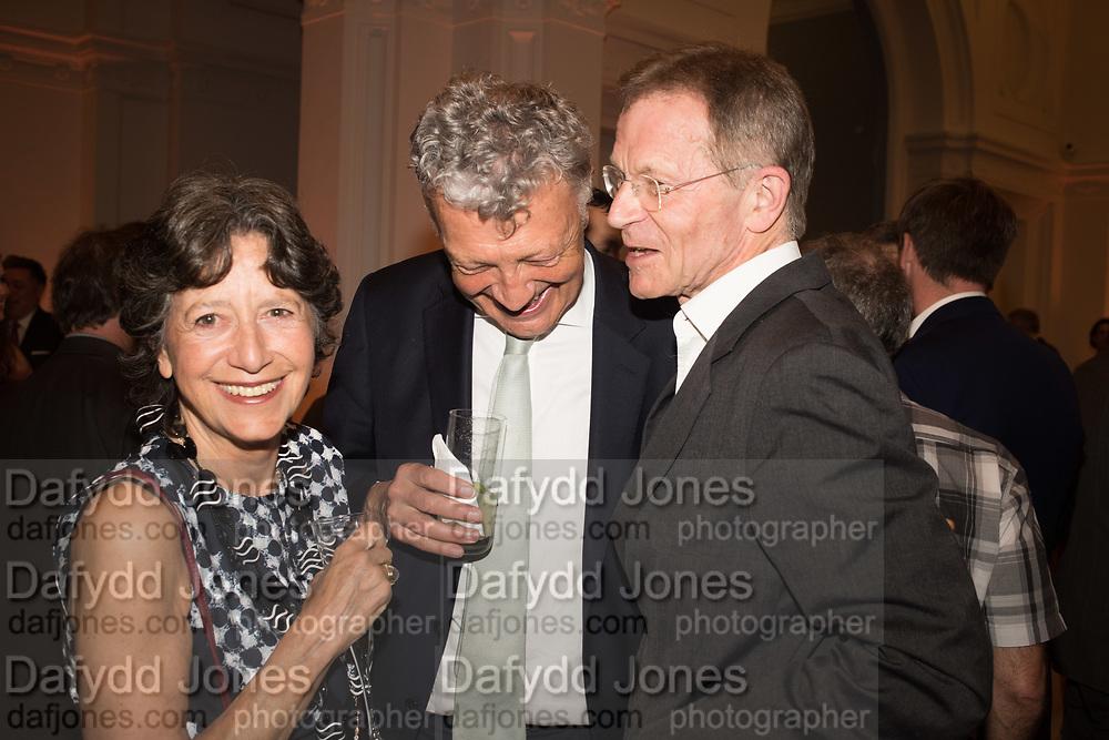 OLGA POLIZZI; WILLIAM SHAWCROSS; SIR NICHOLAS SEROTA, Opening of The New Royal Academy of arts, London. 15 May 2018