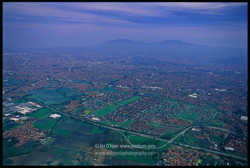 Bandung city & Mt. Tangkubang Perahu, Jawa Barat, Indonesia