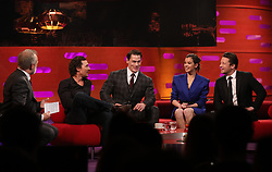 (left to right) Host Graham Norton, Matthew McConaughey, John Cena, Hailee Steinfeld and Jamie Oliver during the filming for the Graham Norton Show at BBC Studioworks 6 Television Centre, Wood Lane, London, to be aired on BBC One on Friday evening. PRESS ASSOCIATION. Picture date: Thursday December 6, 2018. Photo credit should read: PA Images on behalf of So TV