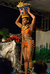International Wear/Costume Segment.  Meso-America.  Contestant #3 Shanell Harney.  St. John Festival Queen: 2015.  Winston W. Wells Ball Field.  St. John, Virgin Islands.  21 June 2015.  © Aisha-Zakiya Boyd