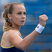 August 21, 2014, New Haven, CT:<br /> Magdalena Rybarikova reacts during a match against Alison Riske on day seven of the 2014 Connecticut Open at the Yale University Tennis Center in New Haven, Connecticut Thursday, August 21, 2014.<br /> (Photo by Billie Weiss/Connecticut Open)
