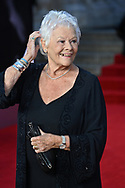 Tuesday 28 September 2021<br />Bond: No Time To Die - world film. premiere <br />The Royal Albert Hall.<br />Dame Judy Dench