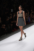A gray and tan tone-on-tone dress by Richard Chai at the Spring 2013 Mercedes Benz Fashion Week show in New York.