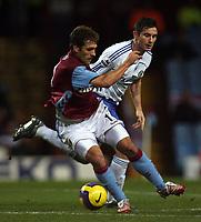 Photo: Paul Thomas.<br /> Aston Villa v Chelsea. The Barclays Premiership. 02/01/2007.<br /> <br /> Frank Lampard (R) of Chelsea tries to stop Stiliyan Petrov.