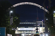 a General view outside Wembley Stadium prior to kick off. EFL Carabao Cup, 4th round match, Tottenham Hotspur v West Ham United at Wembley Stadium in London on Wdnesday 25th October 2017.<br /> pic by Steffan Bowen, Andrew Orchard sports photography.