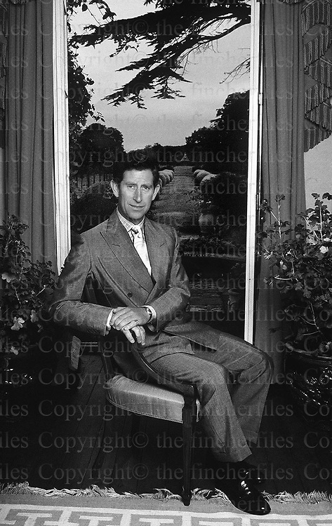 The Prince of Wales seen at his home Highgrove in Gloucestershire as he poses for an official portrait for his 40th birthday in 1988. Photograph by Jayne Fincher
