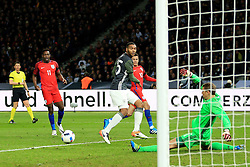 England's Danny Welbeck forces a save from Germany's Manuel Neuer - Mandatory by-line: Matt McNulty/JMP - 26/03/2016 - FOOTBALL - Olympiastadion - Berlin, Germany - Germany v England - International Friendly