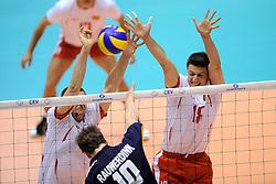 29-05-2010 VOLLEYBAL: EK KWALIFICATIE MACEDONIE - NEDERLAND: ROTTERDAM<br /> Nederland wint met 3-0 van Macedonie en plaatst zich voor de volgende ronde / Viktor Zafirov<br /> ©2010-WWW.FOTOHOOGENDOORN.NL
