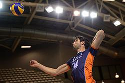 20150613 NED: World League Nederland - Finland, Almere<br /> De Nederlandse volleyballers hebben hun vierde zege in vijf World League-duels geboekt. Zes dagen na de pijnlijke 0-3 tegen België, werd in Almere Finland met 3-0 (25-20, 25-14, 25-18) verslagen / Niels Klapwijk #14